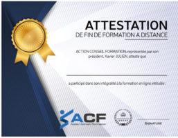 Attestation Formation ACF 2018 FAD