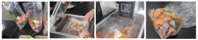 Étapes de la cuisson sous vide