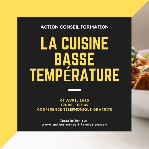 Conférence La cuisine basse température