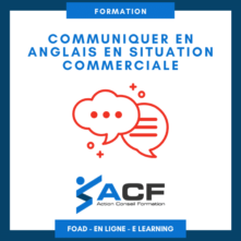 FORMATION Communiquer en anglais en situation commerciale